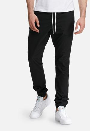 PRODUKT Cuffed Slim Jogger Pants & Chinos Black