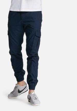 PRODUKT Washed Cuff Pants Navy