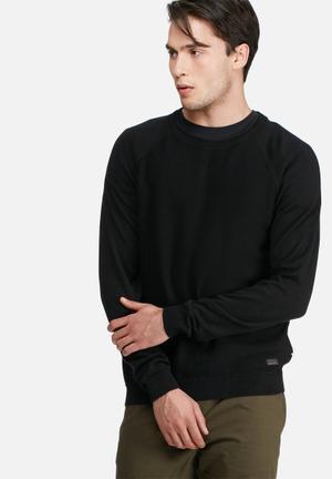 PRODUKT Sabbir Crew Knit Knitwear Black