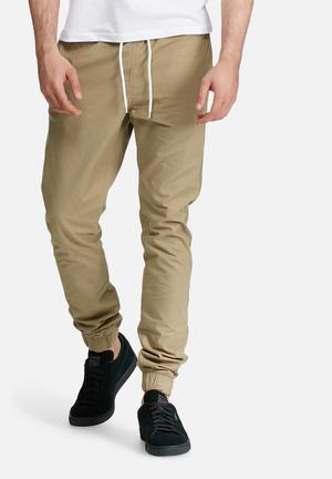 PRODUKT Cuffed Slim Jogger Pants & Chinos Stone