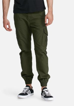 PRODUKT Washed Cuff Pants Green
