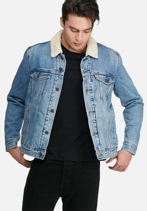 Levi's® Good Sherpa Trucker Youngstown Jackets Blue