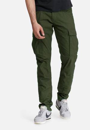 PRODUKT Canvas Cargo Pants Green