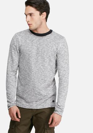 PRODUKT Slub Sweat Top Hoodies & Sweatshirts White & Black