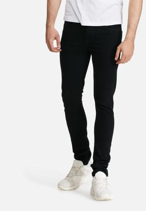 Only & Sons Warp Skinny Jeans Black
