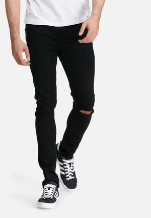 Only & Sons Warp With Rip Jeans Black