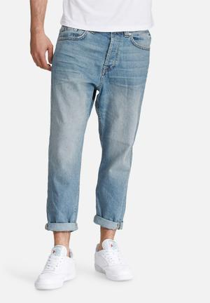 Only & Sons Beam Cropped Jeans Blue
