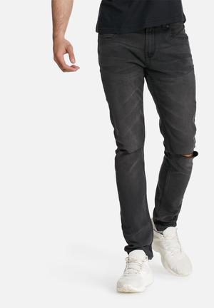 Only & Sons Warp Skinny Camp Jeans Charcoal