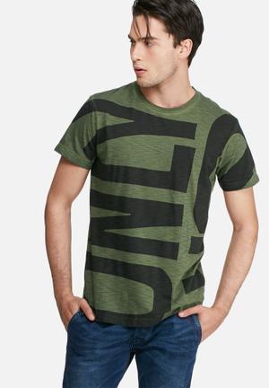 Diesel  T-diego Tee T-Shirts & Vests Green & Black