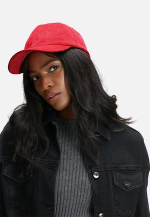 Dailyfriday Ribbed Cap Headwear Red