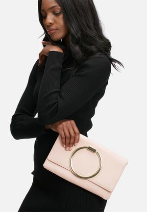 Missguided Circle Grab Handle Clutch Bag Light Pink