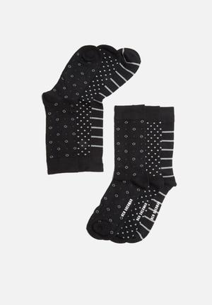 Ben Sherman 3 Pack Sock Black & Grey