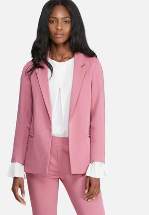 Dailyfriday Classic Lined Suit Jacket Pink