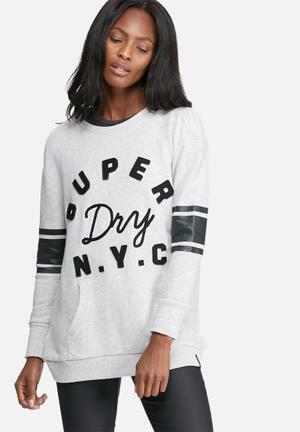 Superdry. Applique Pocket Crew T-Shirts, Vests & Camis Grey Mealnge