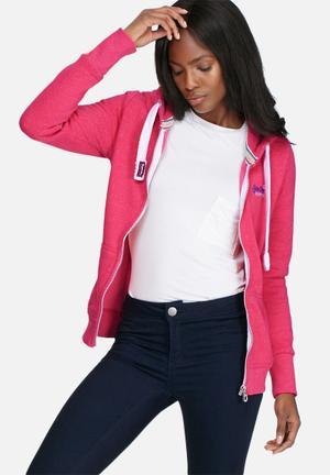 Superdry. Orange Label Primary Ziphood T-Shirts, Vests & Camis Pink