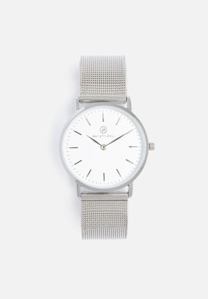 Dailyfriday Kiara Mesh Watch Silver