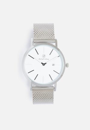 Dailyfriday Pippa Mesh Watch Silver