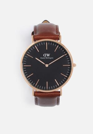 Daniel Wellington St Mawes Watches Brown, Black & Rose Gold