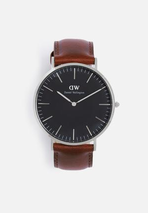 Daniel Wellington St Mawes Watches Brown, Black & Silver