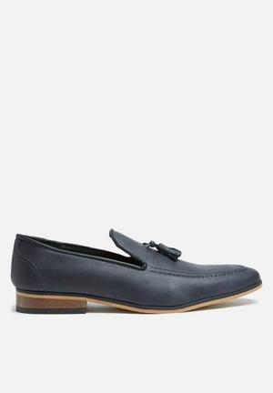 Basicthread Percy Leather Loafer Dark Navy
