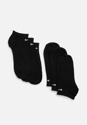 Nike No Show 3 Pack Socks Black
