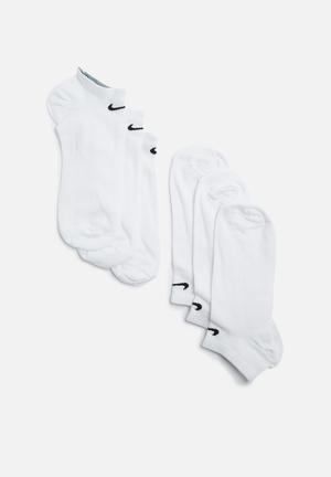 Nike No Show 3 Pack Socks White
