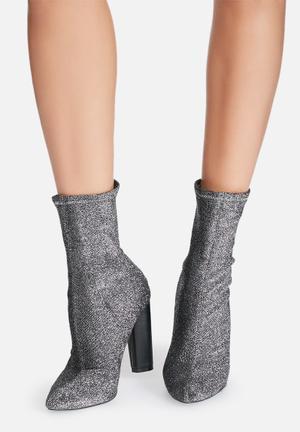 Glitter sock boot