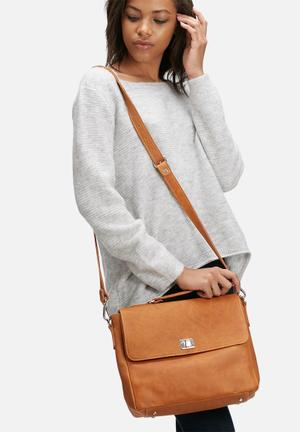 FSP Collection Worker Bee Leather Lady Bag Tan