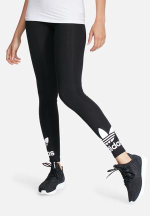Adidas Originals Trefoil Leggings Bottoms Black