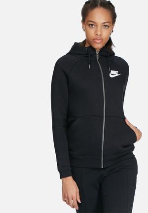 Nike Rally Hoodie FZ Hoodies & Jackets Black