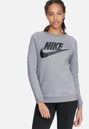 Nike Rally Crew Hoodies & Jackets Grey Melange