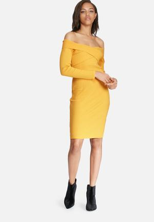 Pieces Alex Dress Casual Yellow