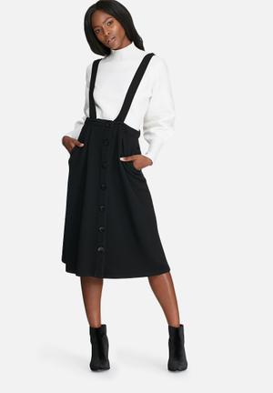 Dailyfriday Pinafore Skirt Black