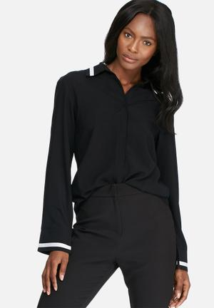 Dailyfriday Tipped Formal Shirt Black & White