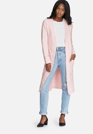 Dailyfriday Knitwear Robe With Tie Pink