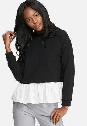 Dailyfriday Sweater Blouse Black & White