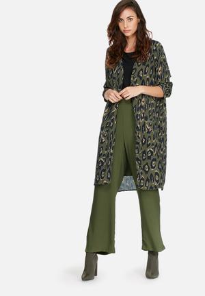Vero Moda Rowena Kimono Jackets Olive, Black & Brown