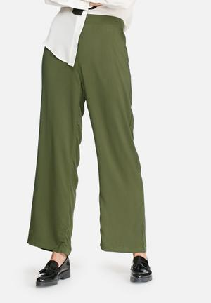 Vero Moda Now Wide Pants Trousers Khaki