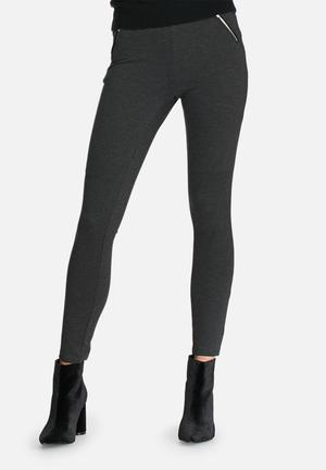 Vero Moda Strong Zip Ankle Pants Trousers Grey
