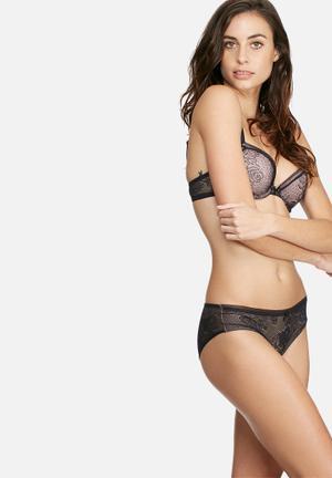 Dorina Victoria Hipster Panties Black & Nude