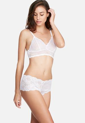 Dorina Lianne Lace Hipster Panties White