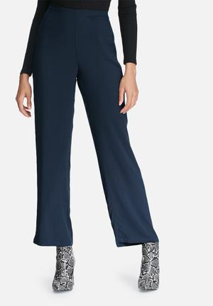 Vero Moda Now Wide Pants Trousers Navy Blue