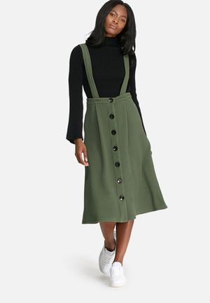 Dailyfriday Pinafore Skirt Olive