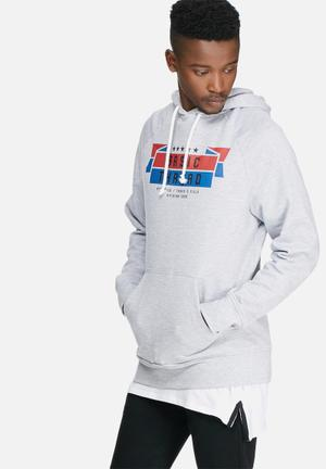 Basicthread Graphic Pullover Hoodie Sweat Hoodies & Sweatshirts Grey, Blue, Red & Black