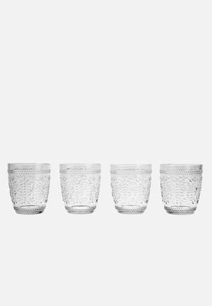Humble & Mash Decadent Tumblers - Set Of 4 Drinkware & Mugs Glass