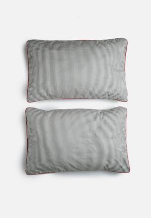 Sixth Floor Stripe Pillowcase Set Bedding 144TC Cotton