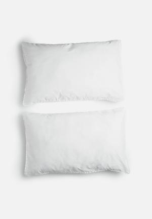 Sixth Floor Poppy Lace Pillowcase Set Bedding 200TC Cotton