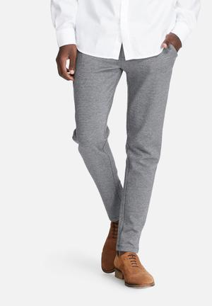 Jack & Jones Footwear And Accessories Randy Slim Trouser Pants & Chinos Black & White
