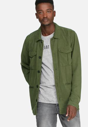 Sergeant Pepper Military Style Lightweight Jacket Green