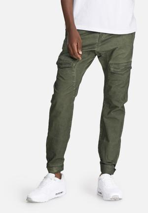 Sergeant Pepper Dyed Slim Utility Pants Green